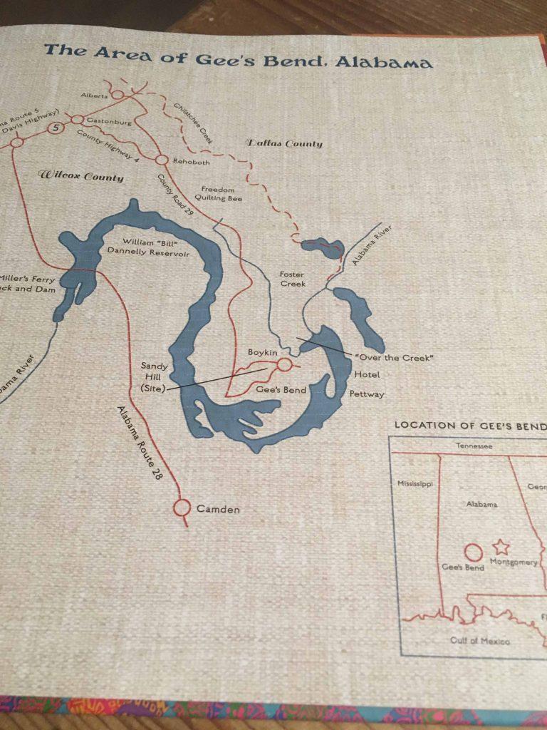 kaart van bocht in rivier in Alabama